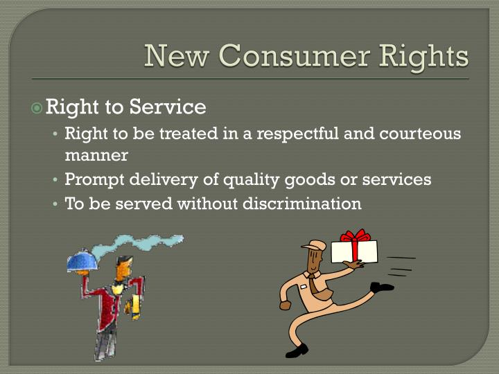 New Consumer Rights