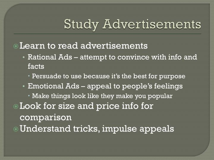 Study Advertisements
