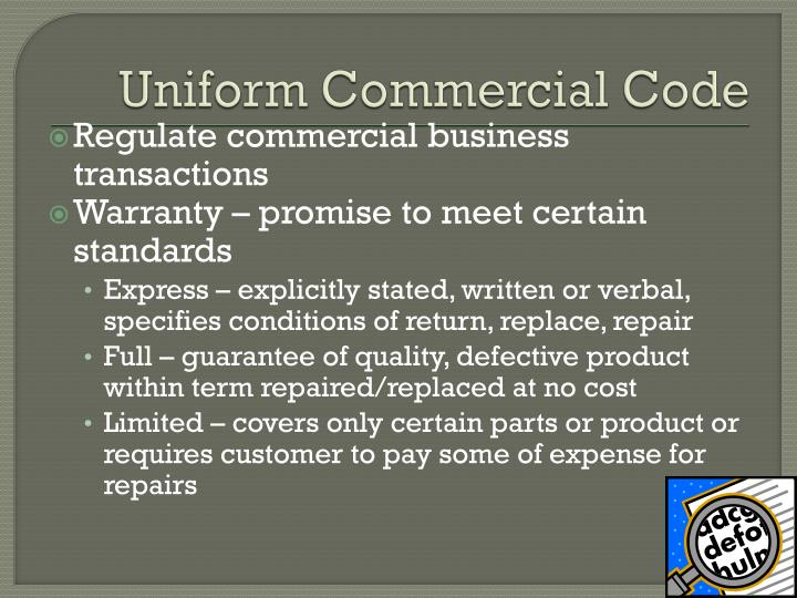 Uniform Commercial Code