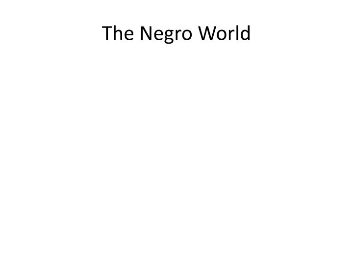 The Negro World