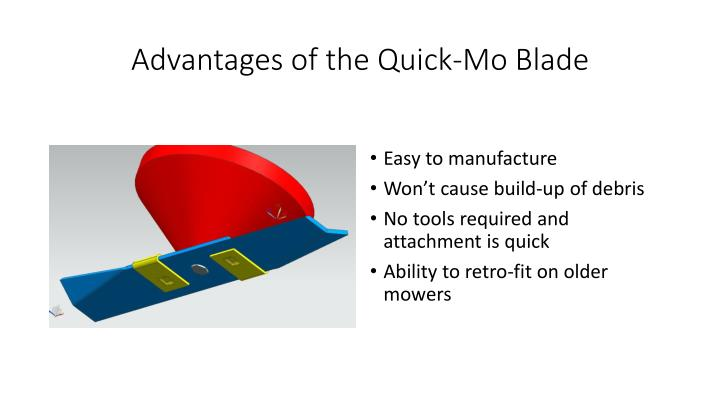 Advantages of the Quick-Mo Blade