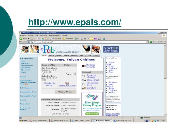 http://www.epals.com/