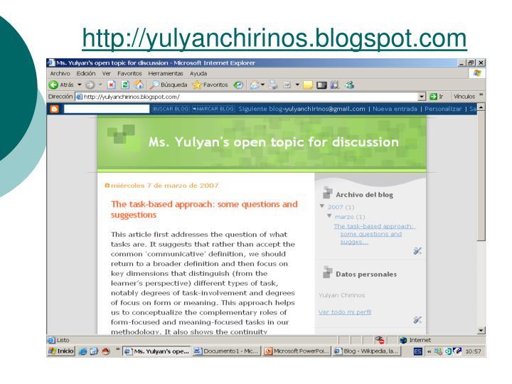 http://yulyanchirinos.blogspot.com