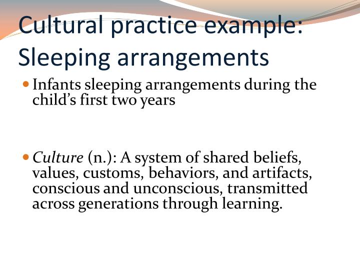 Cultural practice example: