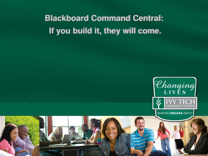 Blackboard Command Central: