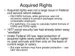 acquired rights
