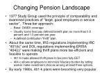 changing pension landscape