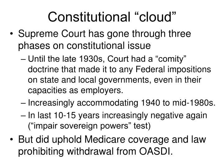 "Constitutional ""cloud"""