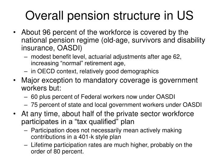 Overall pension structure in us