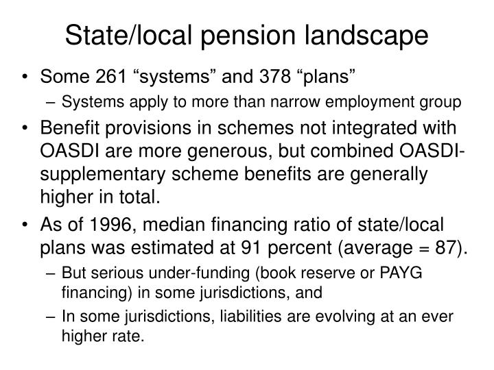 State/local pension landscape