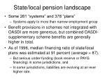 state local pension landscape