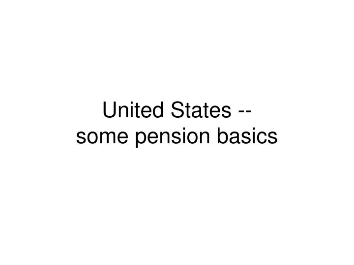 United States --