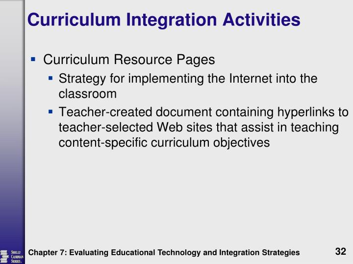 Curriculum Integration Activities