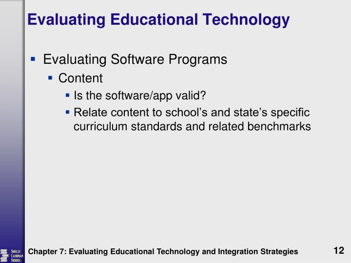 Evaluating Educational Technology