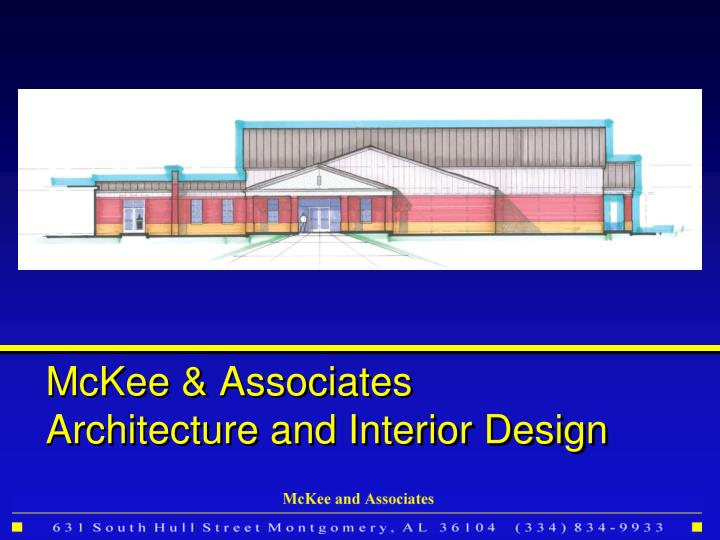 Mckee associates architecture and interior design