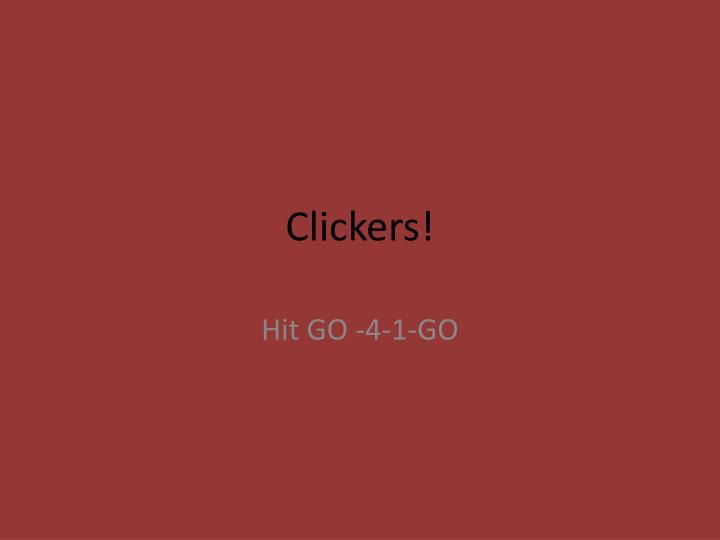 Clickers!