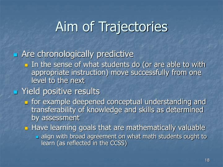 Aim of Trajectories