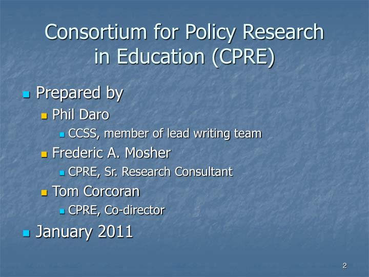 Consortium for Policy Research