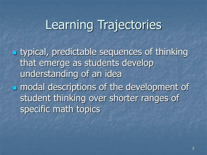 Learning trajectories
