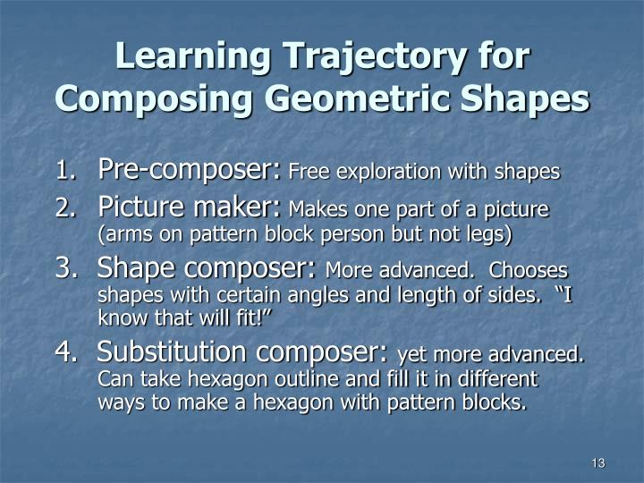 Learning Trajectory for Composing Geometric Shapes