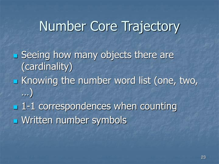 Number Core Trajectory