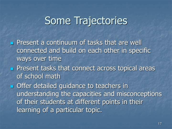 Some Trajectories