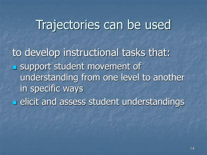 Trajectories can be used