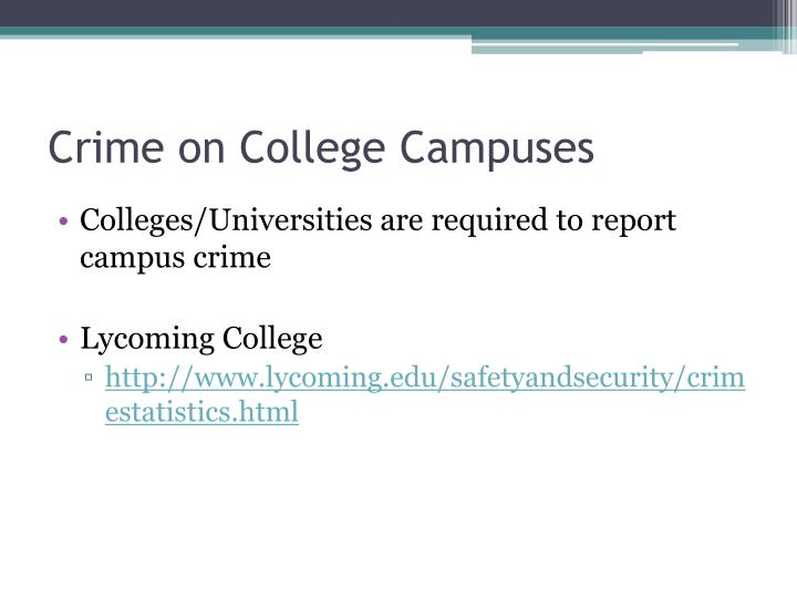 Crime on College Campuses