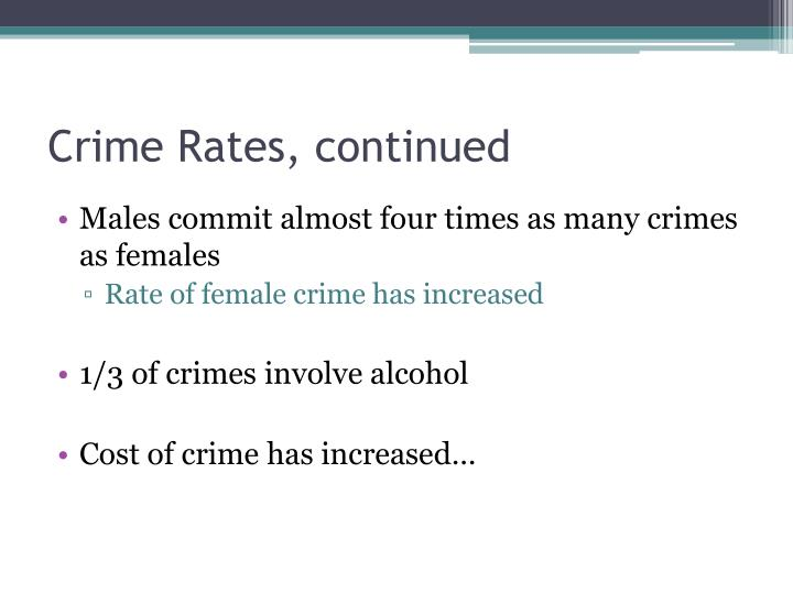 Crime Rates, continued