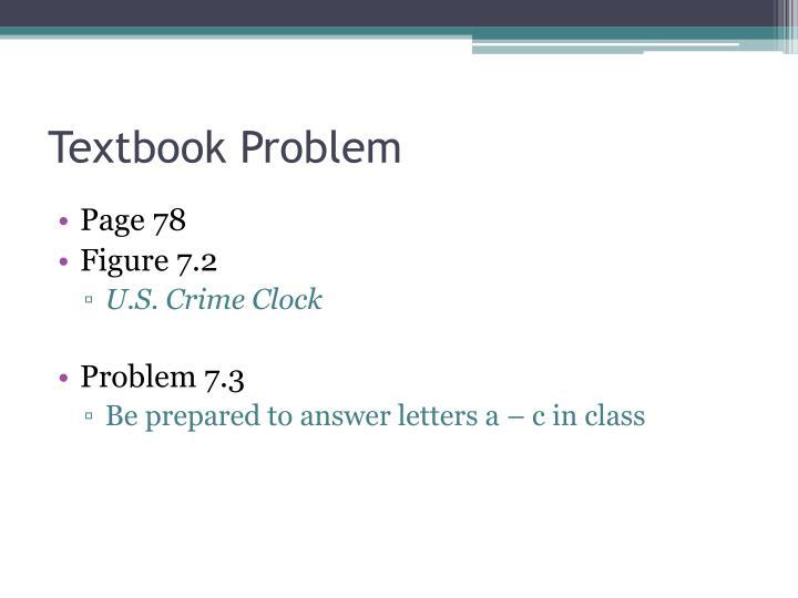 Textbook Problem