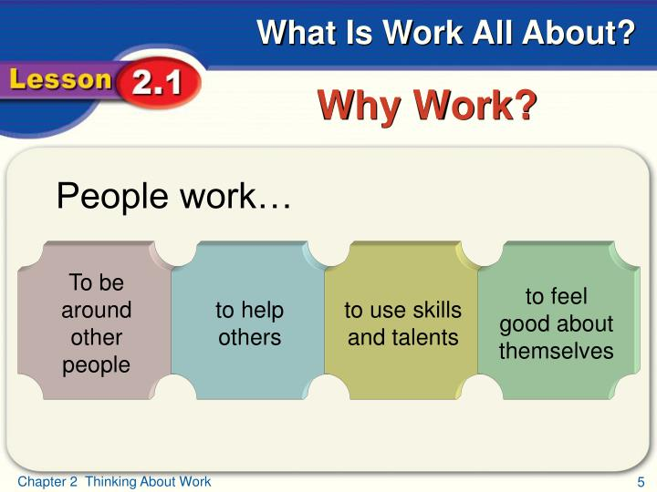 People work…