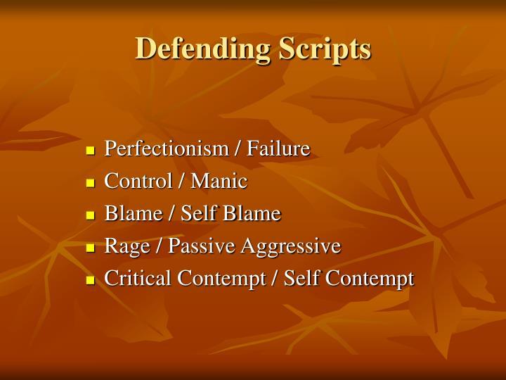 Defending Scripts