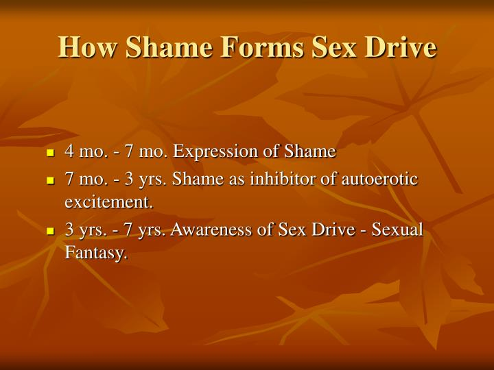 How Shame Forms Sex Drive