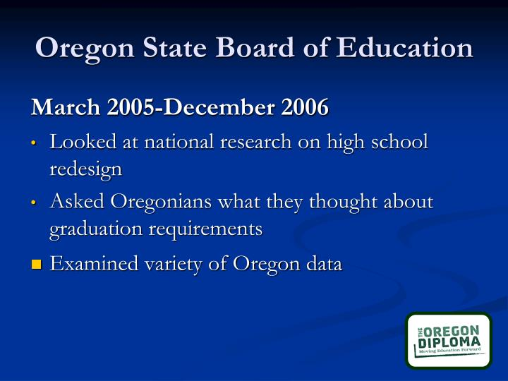 Oregon state board of education