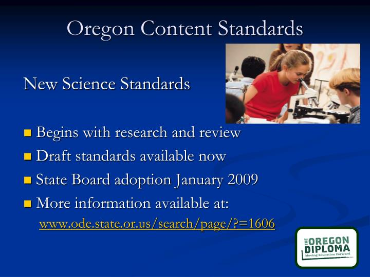 Oregon Content Standards