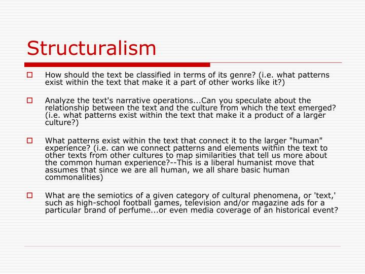 Structuralism