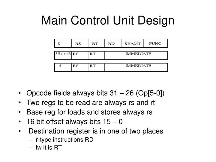 Main Control Unit Design