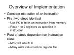 overview of implementation