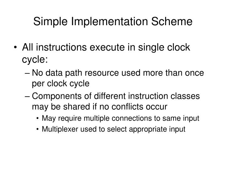 Simple Implementation Scheme
