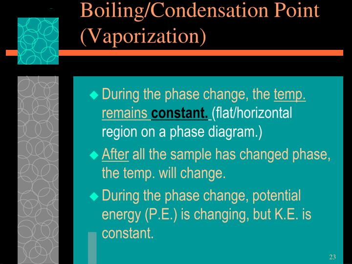 Boiling/Condensation Point
