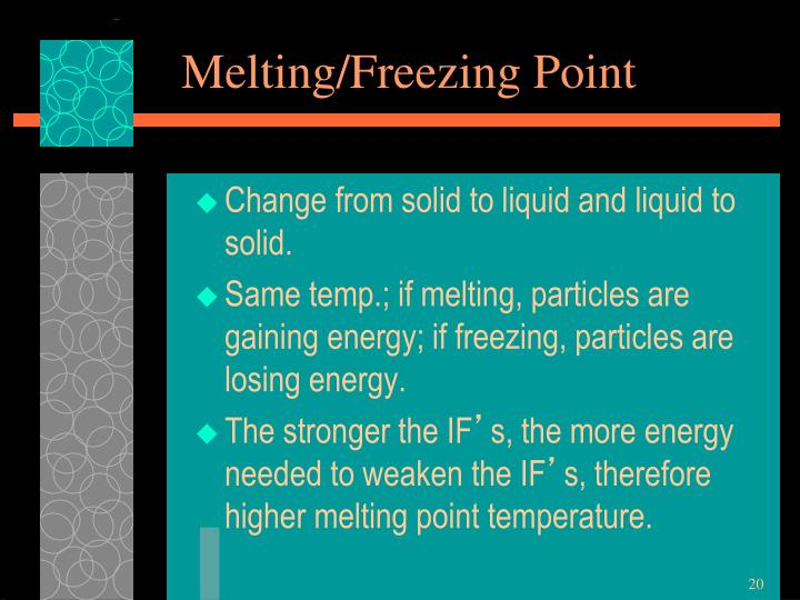 Melting/Freezing Point