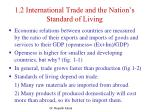 1 2 international trade and the nation s standard of living