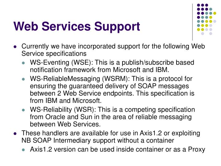Web Services Support