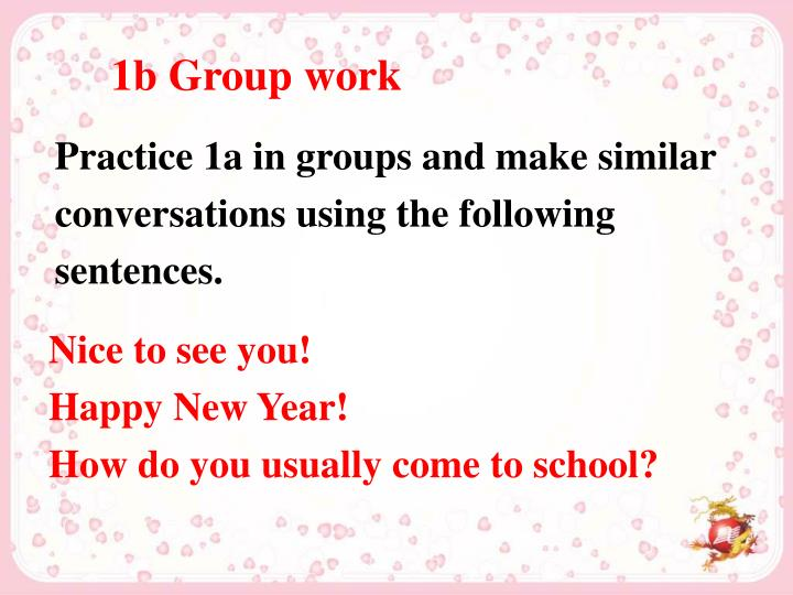 1b Group work