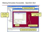 making simulation accessible opensim gui