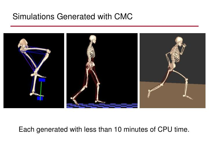 Simulations Generated with CMC
