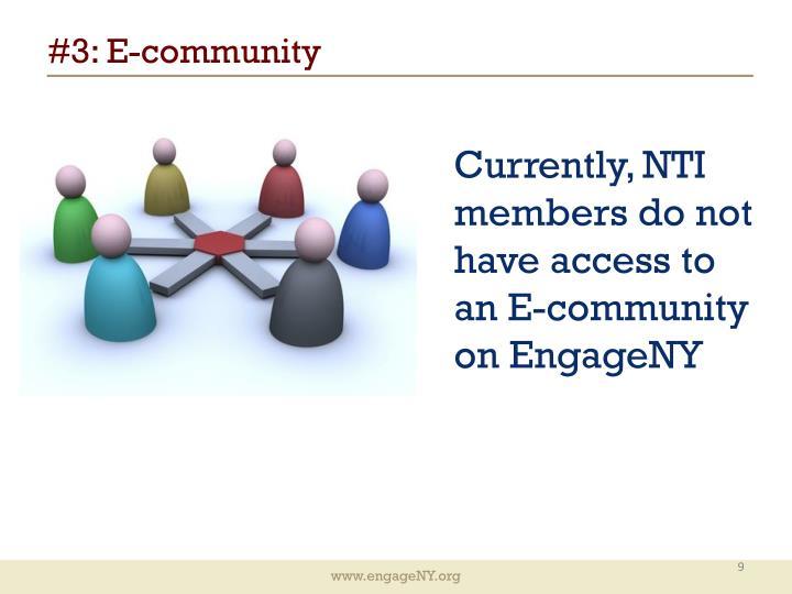 #3: E-community