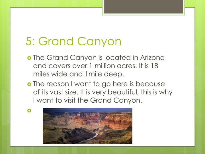 5: Grand Canyon