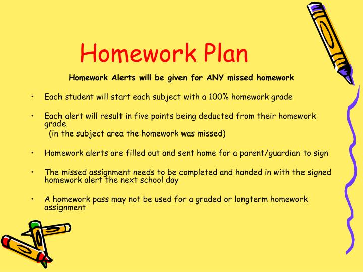 Homework Plan