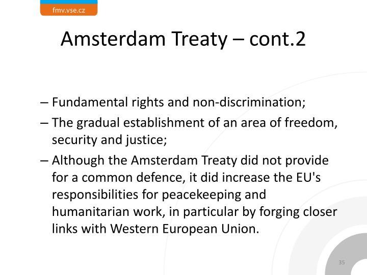 Amsterdam Treaty – cont.2